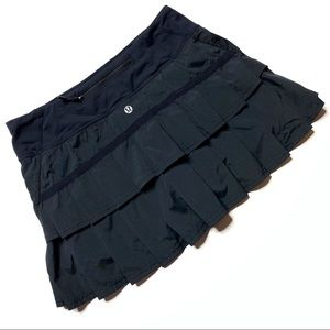 Lululemon Run: Pace Setter Black Skirt Women's 4
